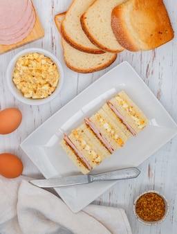 エッグサラダのサンドイッチ