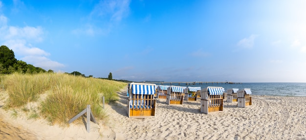 Sandy beach on island rugen, panorama