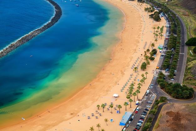 Песчаный пляж лас тереситас