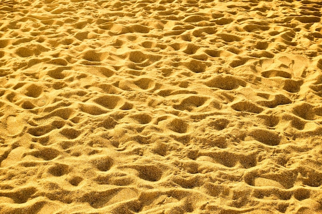 Sandy beach with footprints, may be used as background