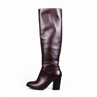 Sandy brown high boot isolated