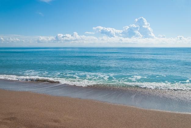 Sandy coast of the aegean sea