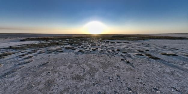 Песчаное болото с большими участками травы и кустарников