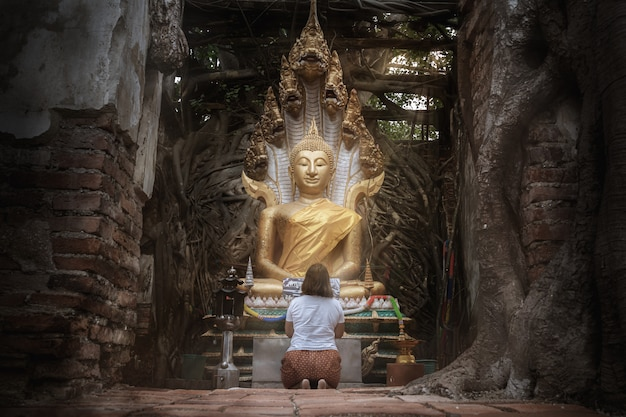 Sangkratai temple is a cultural tourism destination of thailand