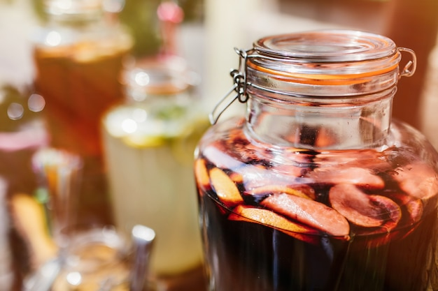 Sangria glass jar