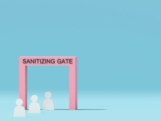 Sanitizer gate for protect people from virus