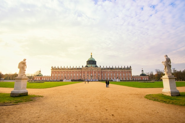 Sanssouci palace in potsdam at autumn, germany