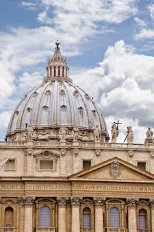 Sant peter's basilica in rome, italy