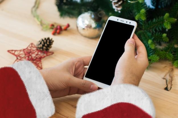 Santa christmas smartphone mockup