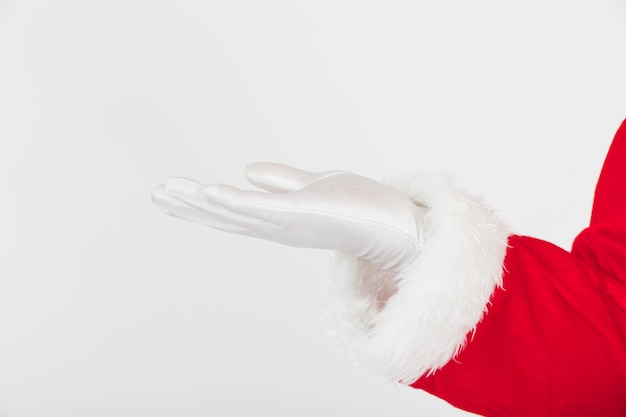 Santa claus hand in glove