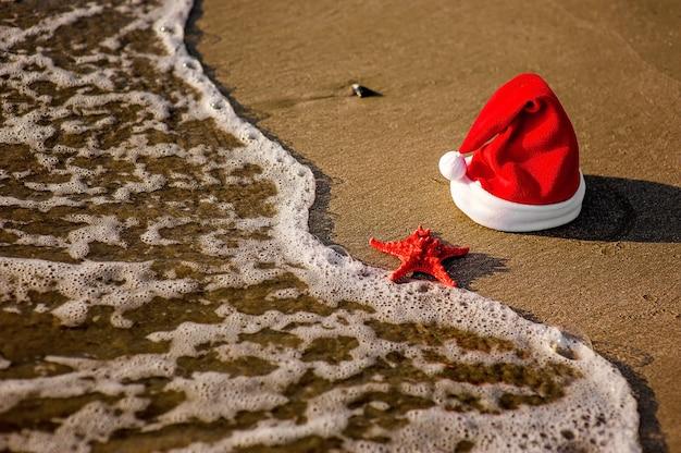 Santa claus hat, tropical christmas