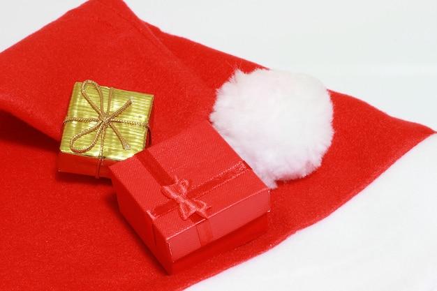 Santa claus hat on white