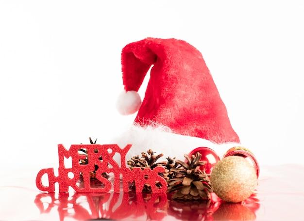 メリークリスマス符号付きサンタクロース帽子
