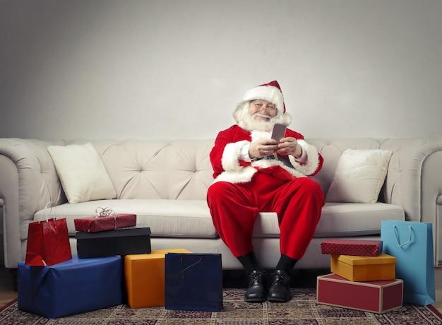 Santa claus and his presents