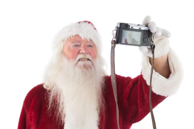 Santa claus makes a selfie
