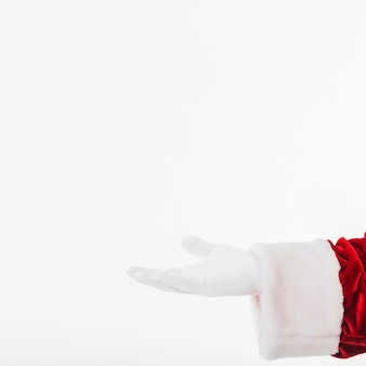 Santa claus showing something with hand