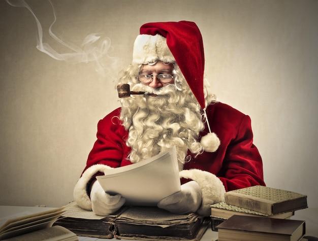 Santa claus smoking