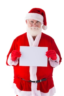 Santa claus with sheet of paper