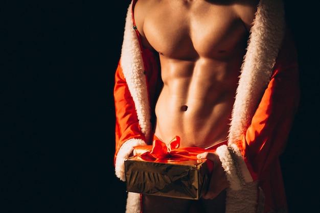Санта крупным планом торс