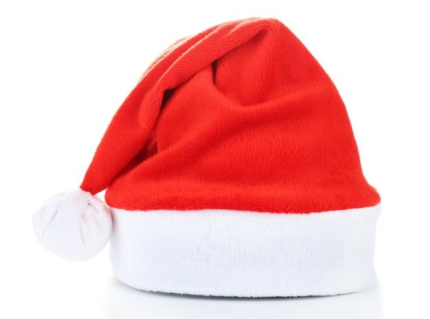 Шляпа санты, изолированная на белом