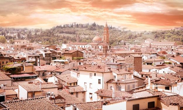 サンタマリアデルフィオーレ。パノラマ。イタリア、フィレンツェ。