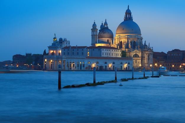 Santa maria della sallute early in the evening