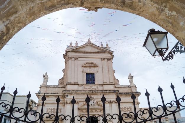 Santa maria maggiore church in ispica, ragusa