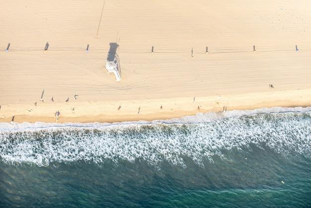 サンタモニカビーチ、ヘリコプターからの眺め