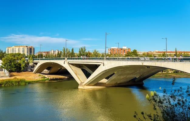 Santiago bridge in zaragoza spain