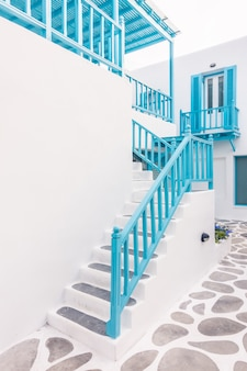 Santorini island architecture cyclades alley