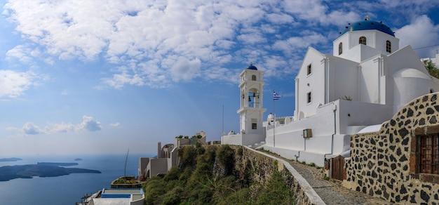Остров санторини на закате греция