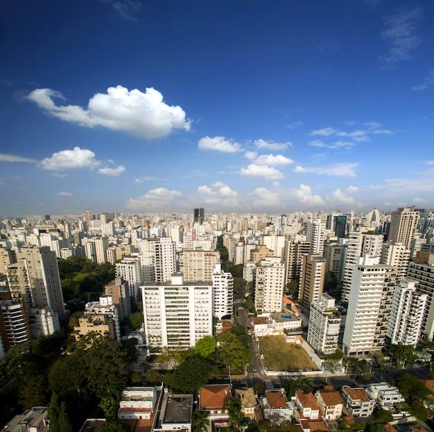 Sao paulo, brazil. aerial view on hospital in sao paulo city