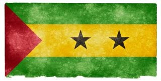 Sao tome and principe grunge flag  flag