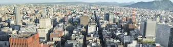 Sapporo Panorama Cityscape from JR Tower Observation Deck T38.