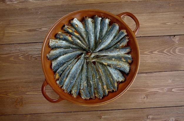 Сардаля - европейская сардина. жареная сардина в пан-турецкой кухне.