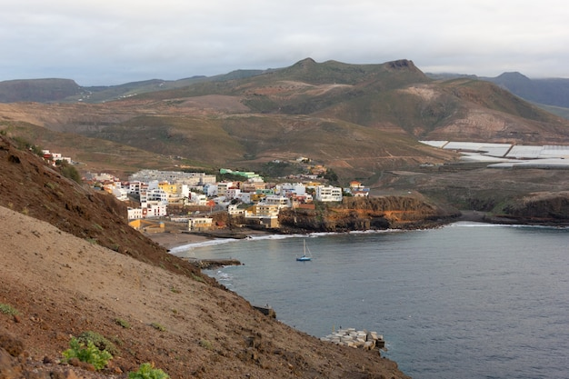 Sardina de galdar small village surrounded by arid mountains in north gran canaria spain