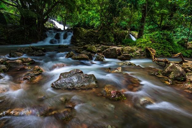 Sarika waterfall, beautiful waterfall in nakornnayo  province, thailand.