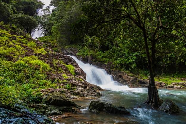 Sarika waterfall, beautiful waterfall in nakornnayok province, thailand.
