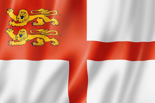 Sark island flag, uk
