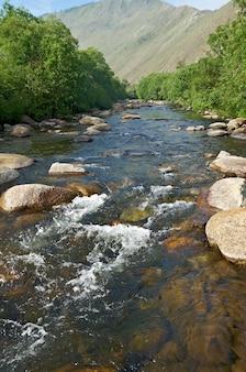 Sarma river. western shore of lake baikal.
