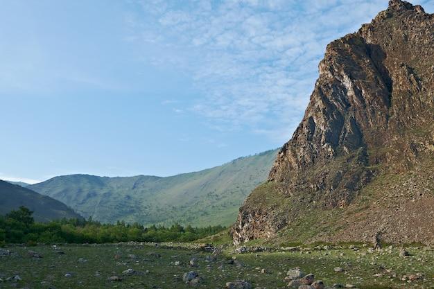 サルミンスコエ峡谷。バイカル湖の西岸。