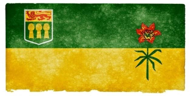 Saskatchewan grunge flag