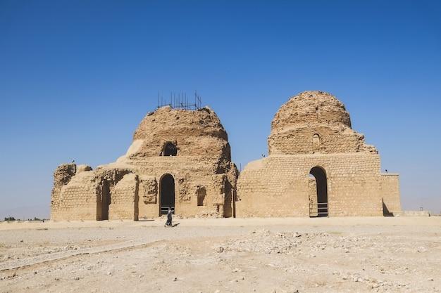 The sassanid palace at sarvestan, iran.