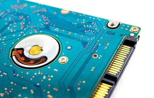 Sata hard disk(hdd) connector, close up image.