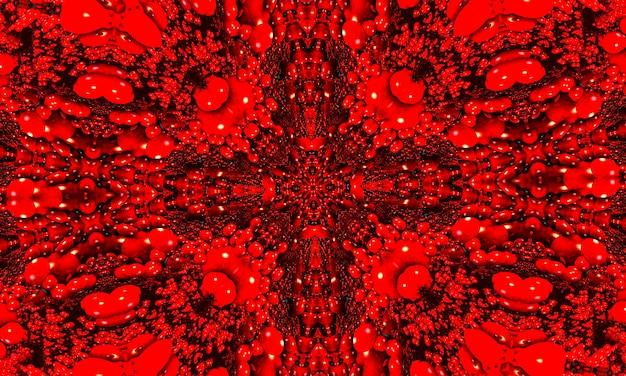 사탄 만화경 배경입니다. 추상 프랙탈 모양입니다. 아름 다운 사탄 만화경 텍스처입니다. 판타지 혼란 다채로운 프랙탈 패턴입니다. 독특한 만화경 디자인. 악마의 지옥 기호입니다.