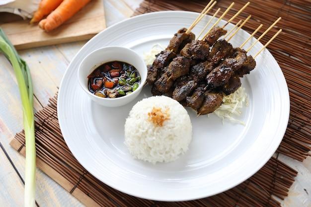 Sate kambing、インドネシアの子羊satay