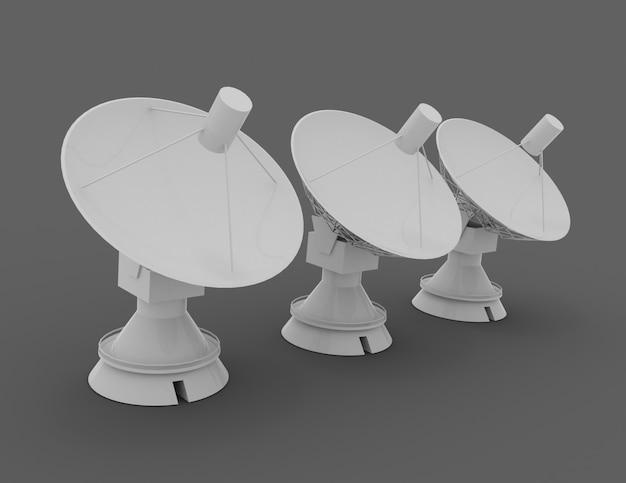 Спутниковая тарелка . 3d научная концепция .3d оказанные иллюстрации