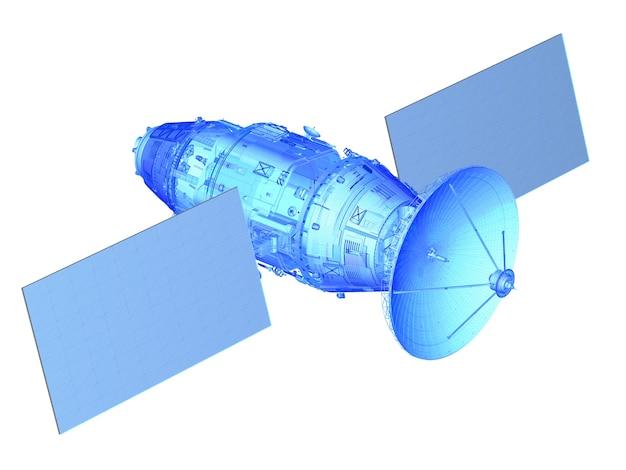 Каркас спутниковой антенны или план на белом фоне