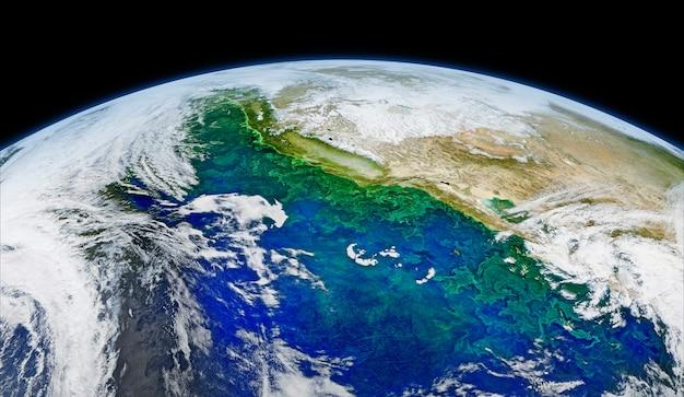 Спутниковый образ земли. оригинал от наса. цифровое усиление с помощью rawpixel. | бесплатное изображение от rawpix