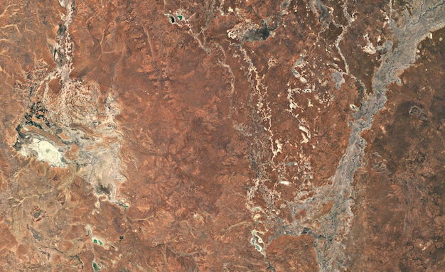 호주에 위성 상위 뷰 텍스처